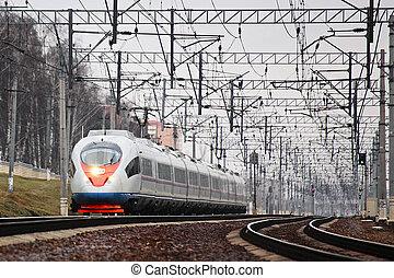 Modern high speed train