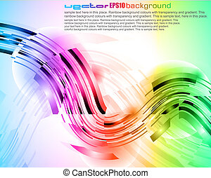 Abstract rainbow business card template vector illustration vectors high tech abstract rainbow business card reheart Choice Image