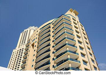Modern highrise buildings in Dubai, United Arab Emirates