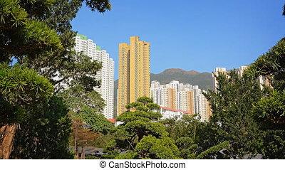 Modern Highrise Residential Buildings Overlooking an Urban...