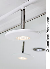 Modern hightech white LED lamp shade