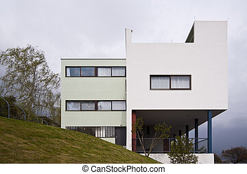 Modern historical german architecture in the Weissenhofsiedlung / Stuttgart