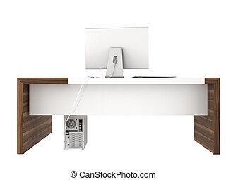 modern, hivatal asztal