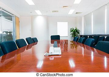 modern, hivatal belső, tanácskozóterem