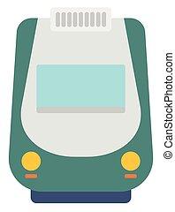 modern, hohe geschwindigkeit, train.