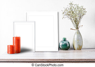 Modern home decor mock-up