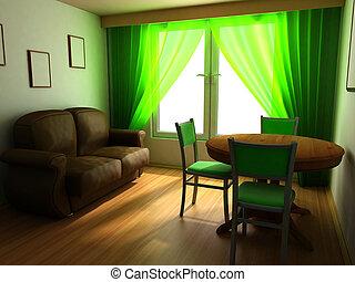 modern home interior design in classic style