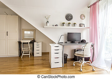 Modern home office area