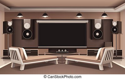 Home theater Clipart and Stock Illustrations. 2,363 Home ...