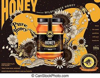 Modern honey ads
