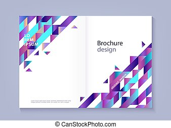 Modern horizontal template for business or promotional poster or brochure.