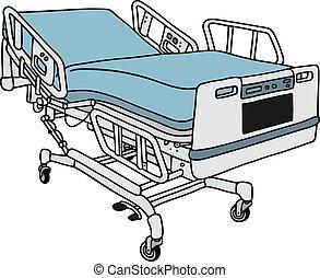 Modern hospital bed