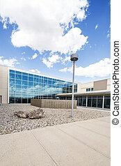 Modern Hospital Building - Modern hospital building against...