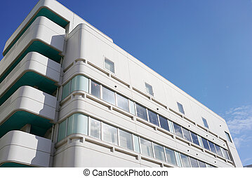 Modern hospital clinic building