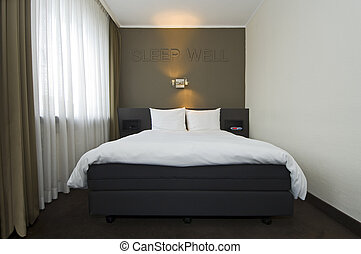 Modern Hotel room interior - The interior of a modern, ...