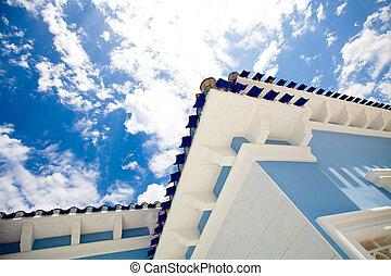 modern house and sky