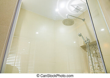 Modern house bathroom interior .