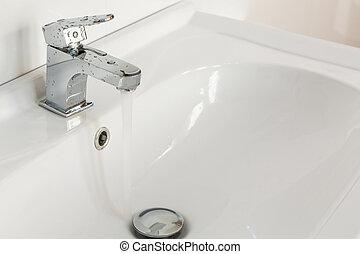 Modern house bathroom interior