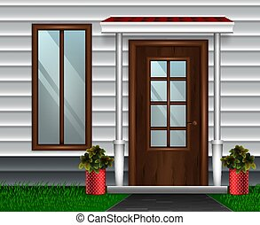Modern House Door Composition