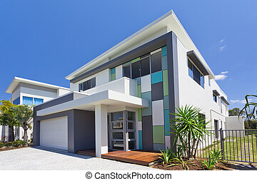 Modern house front - Modern architectural house front