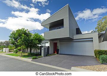 Modern house front - Modern Australian house front