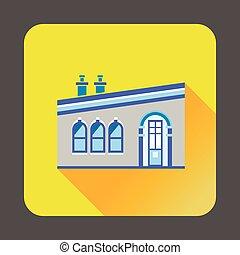 Modern house icon, flat style