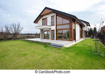 Modern house in the suburbs