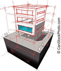 modern house story addition diagram - diagram of a possible...