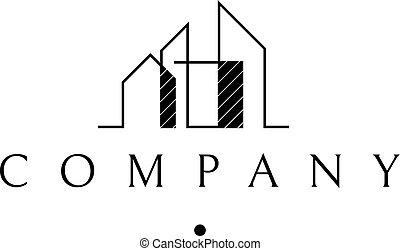 Modern house vector logo