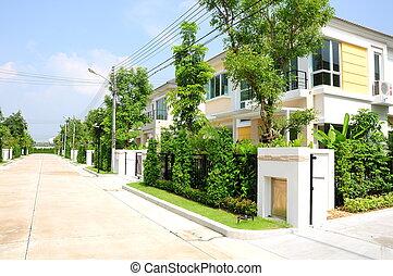 modern house village