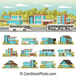 Modern Houses Composition