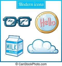 Modern icons set