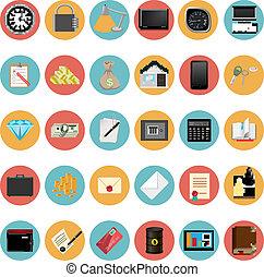 Modern Icons Set Vector Illustration