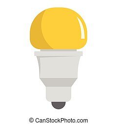 Modern ight bulb flat icons set vector illustration for...