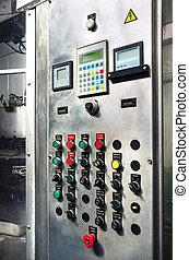 Modern industrial control panel.
