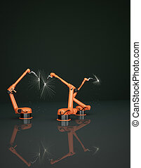 Industrial Robotic Arms - Modern Industrial Robotic Arms at...