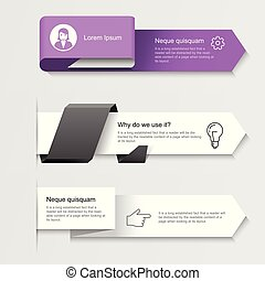 Modern infographic arrows - options or step by step infographics banners