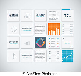 Modern infographic business vector