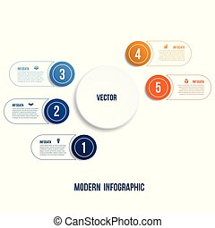 Modern Infographic. Chart template for presentation 5...