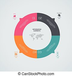 Modern Infographic circle Design template