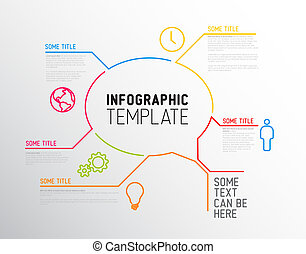 Modern Infographic report template made from lines