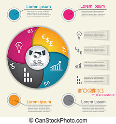 Modern infographic template, design for business