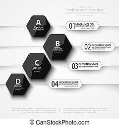 Modern infographics bubble speech template style.