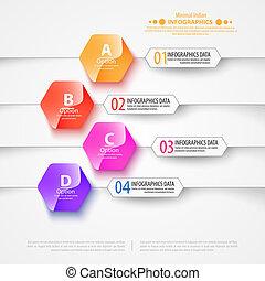 Modern infographics bubble speech template style. Vector illustration.