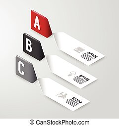 Modern infographics design options banner. Vector ...