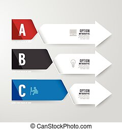 Modern infographics design options banner. Vector...
