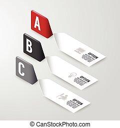 Modern infographics design options banner. Vector...