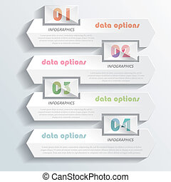 Modern infographics design with numbers. Vector illustration