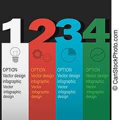 Modern infographics element number template.