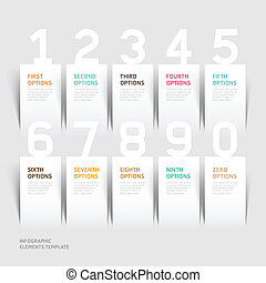 Modern infographics number options.